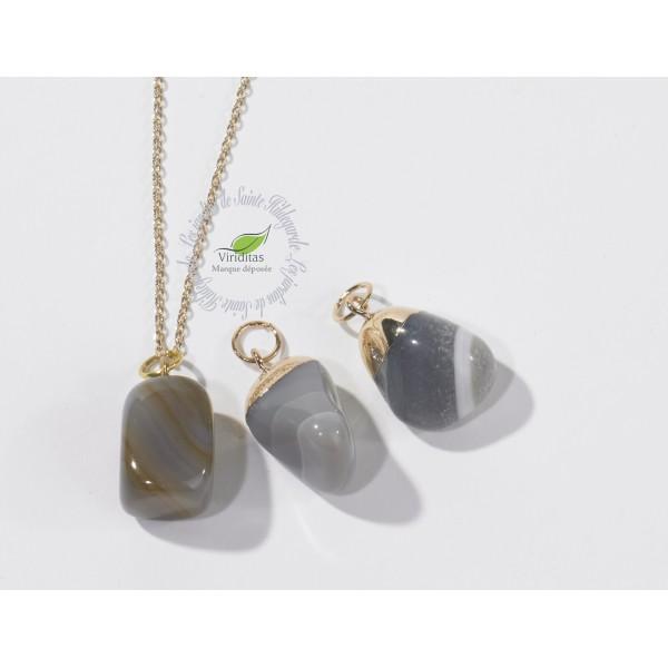 Kamienie szlachetne - Agat polerowany zawieszka, 70009