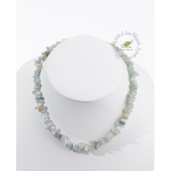 Kamienie szlachetne - Akwamaryn(beryl) polerowany korale, 70011