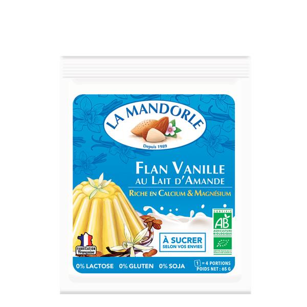 Budyń waniliowy FLAN VANILLE z mleka migdałowego