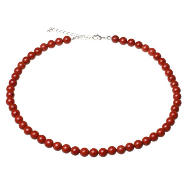 Kamienie szlachetne - Jaspis czerwony kamień polerowany korale 8mm, 70050