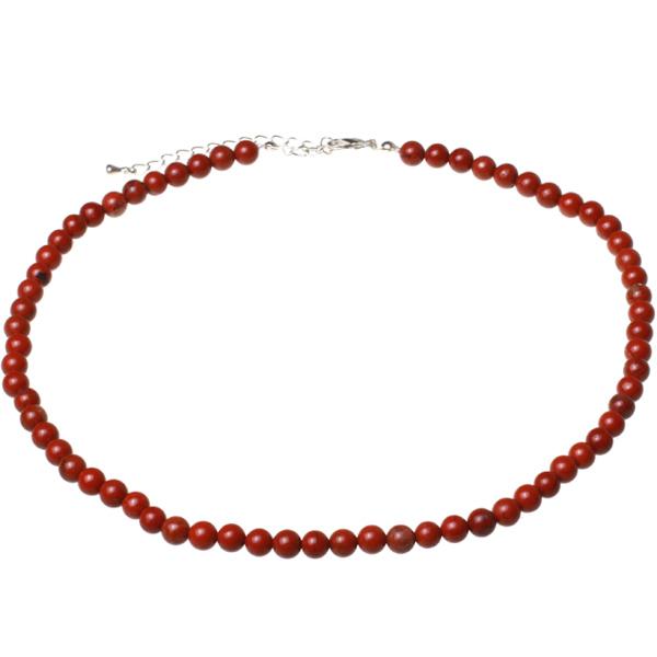 Kamienie szlachetne - Jaspis czerwony korale 6mm, 7d861
