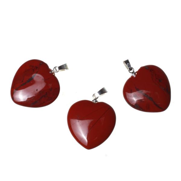 Kamienie szlachetne - Jaspis czerwony zawieszka serce, 77047