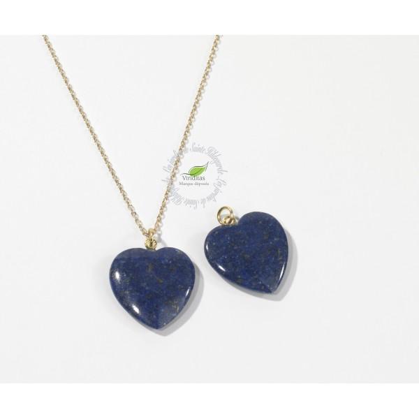Kamienie szlachetne - Lapis lazuli zawieszka serce 4cm, 7E400
