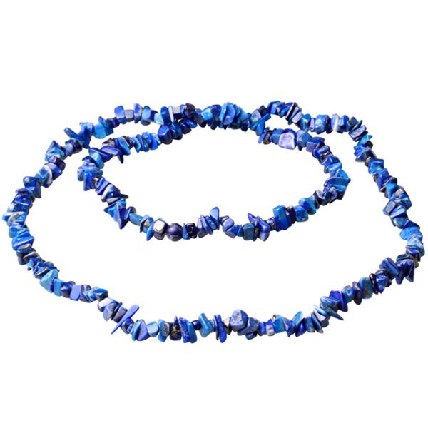 Kamienie szlachetne - Lapis lazuli kamień polerowany korale 90cm, 78065