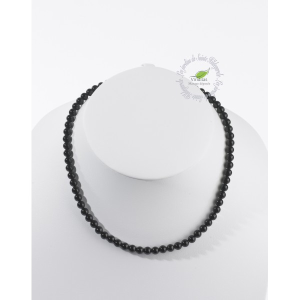Kamienie szlachetne - Onyks czarny korale 6mm, 7G861