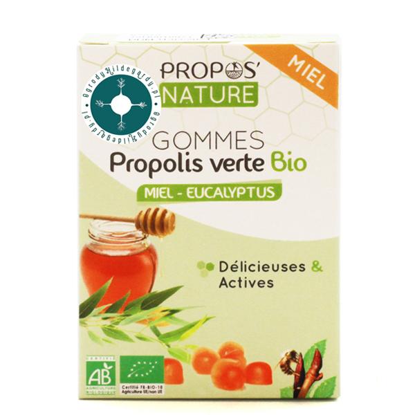 Produkty pszczele - Żelki zielony propolis z miodem i eukaliptusem 45g Bio*, 67010