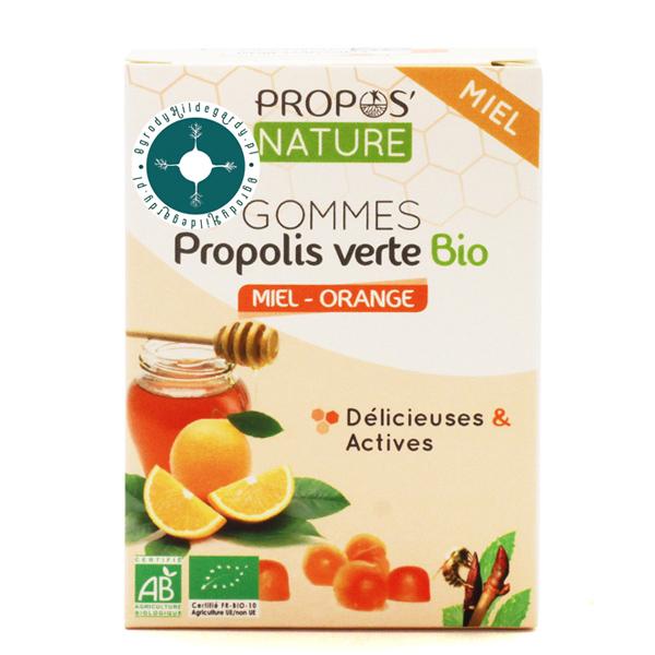 Produkty pszczele - Żelki zielony propolis z miodem i pomarańczą 45g Bio*, 67012