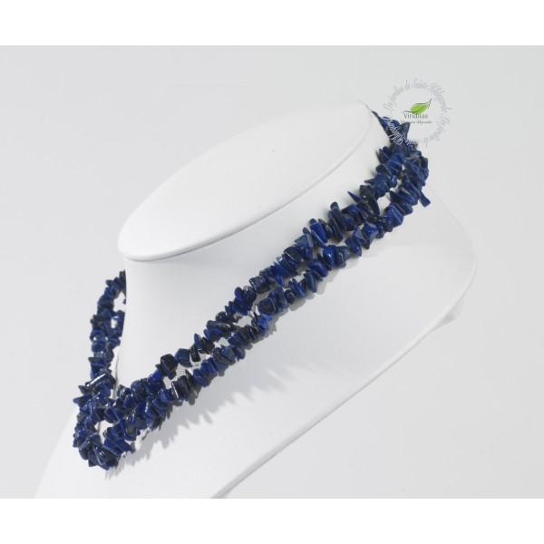 Kamienie szlachetne - Lapis lazuli kamień polerowany korale 90cm, 78065 - -(78065)