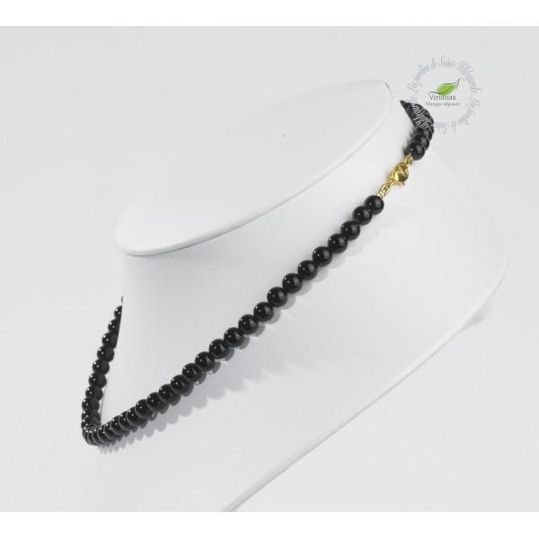 Kamienie szlachetne - Onyks czarny korale 6mm, 7G861 - -(353)
